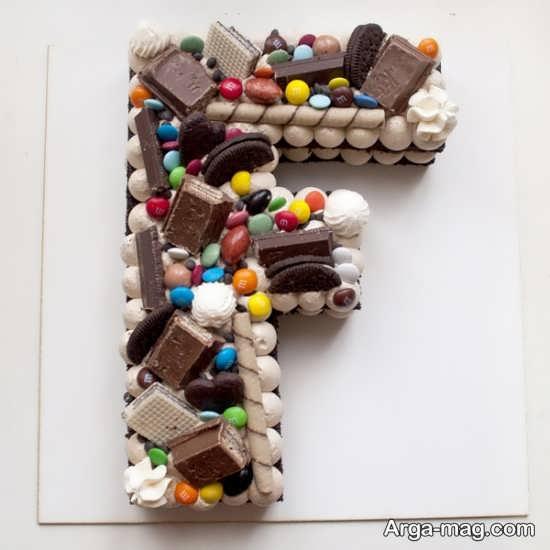 طرح شکلاتی با حرف f برای پروفایل