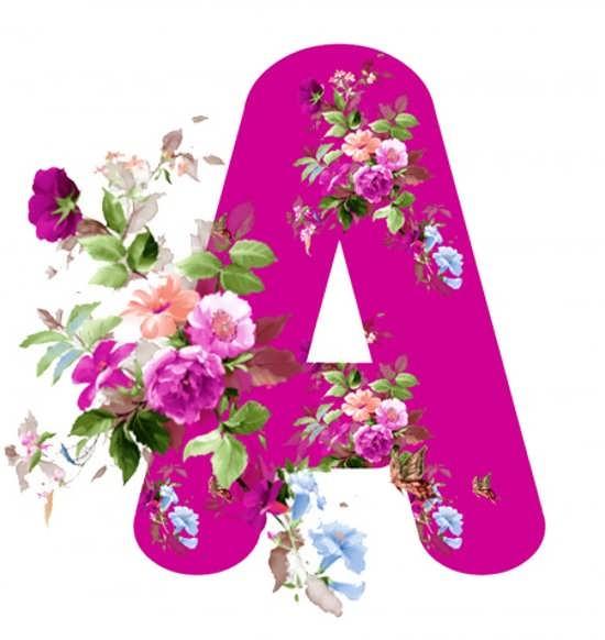عکس با نوشته خاص از حرف A