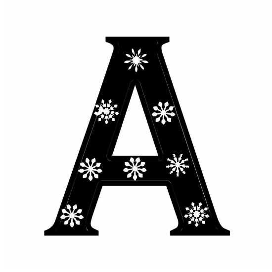 طرح نوشته برای حرف A