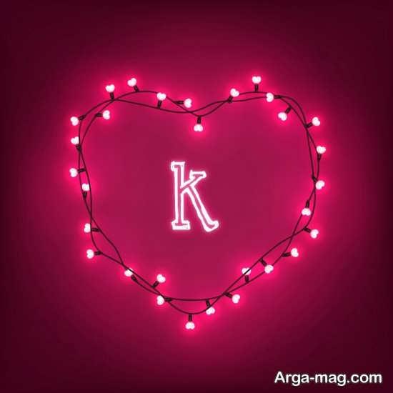 حرف K با طرح زیبا برای پروفایل