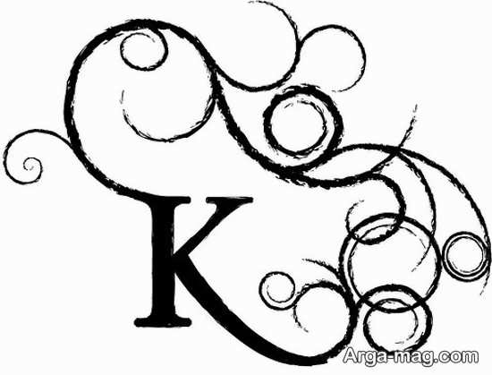 انواع عکس پروفایل حرف K
