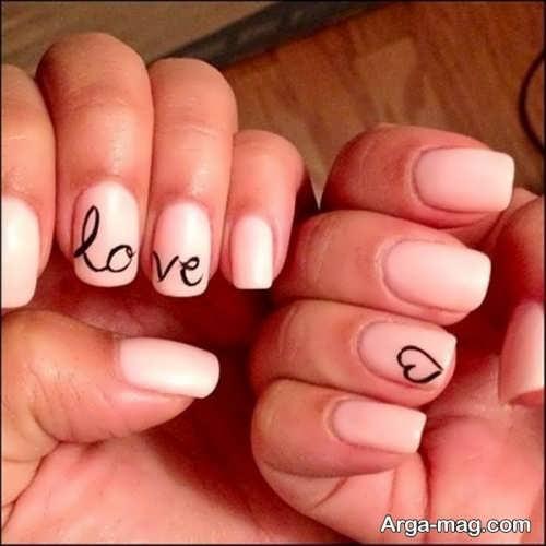 طراحی ناخن عاشقانه