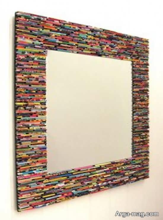 تزئین زیبای دور آینه با سی دی