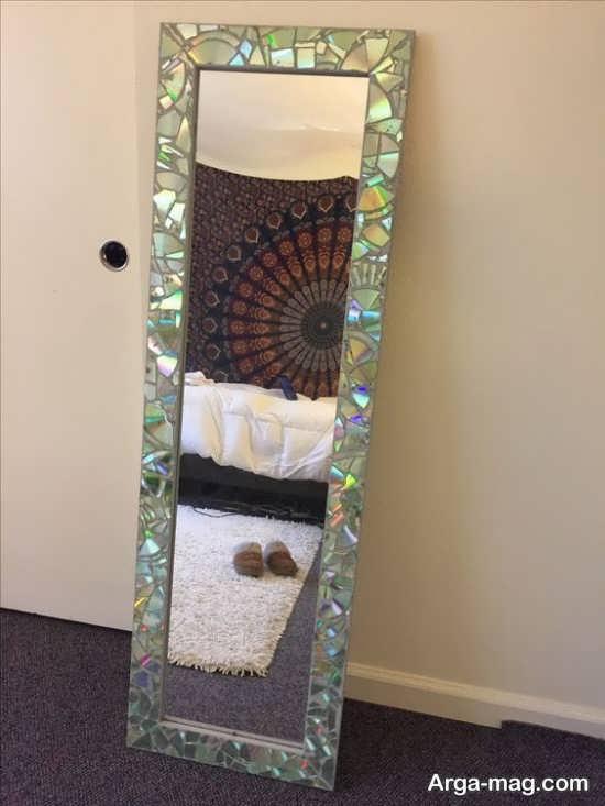 تزیین دور آینه با سی دی