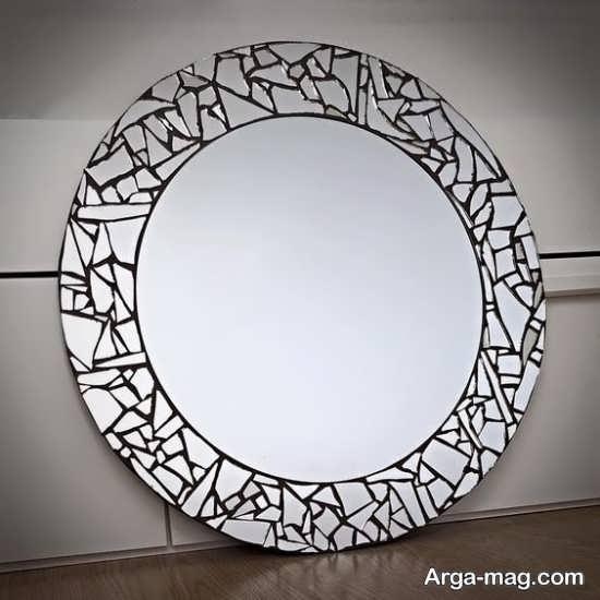 تزیین اطراف آینه با سی دی