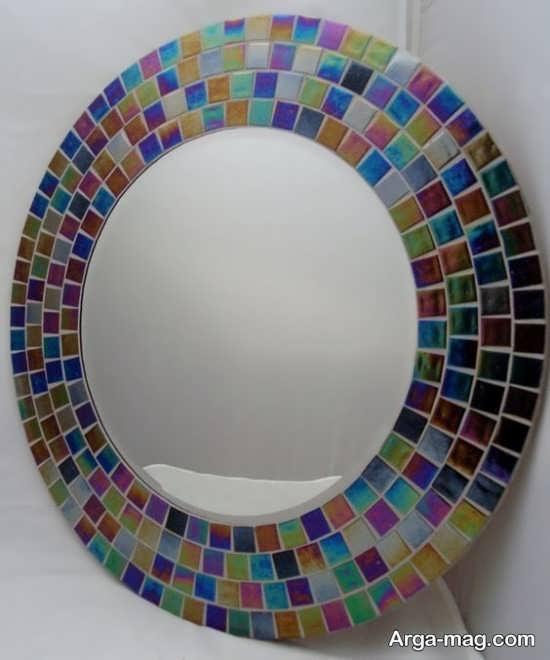 تزئین دور آینه با سی دی+عکس