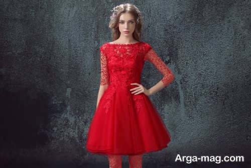 مدل پیراهن دخترانه کوتاه قرمز