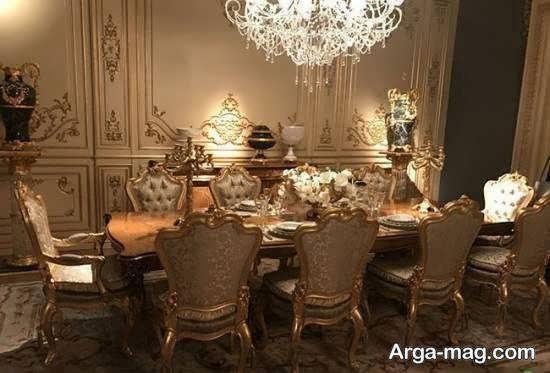 طرح های زیبا و خاص میز ناهارخوری دارای جنس استیل