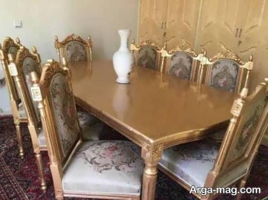 مدل میز غذاخوری با جنس استیل زیبا و شیک