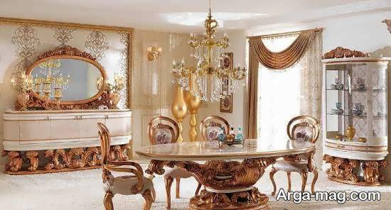 انواع الگوهای میز ناهارخوری استیل شیک و مجلل