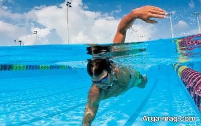 رسیدن به اندام مناسب با شنا