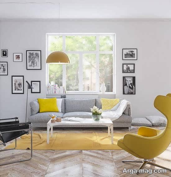 جدیدترین و زیباترین ایده دکوراسیون اتاق پذیرایی با استفاده از رنگ طوسی