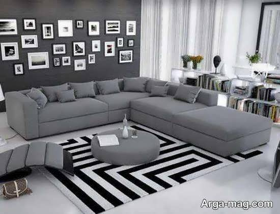 ایده هایی بی نظیر و فوق العاده از دیزاین اتاق پذیرایی با رنگ طوسی