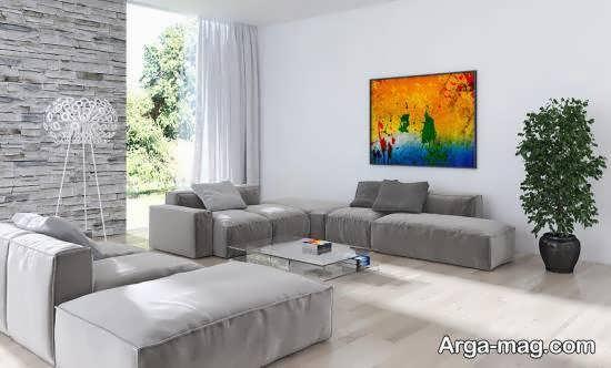 جدیدترین و شیک ترین ایده های دیزاین اتاق پذیرایی با استفاده از رنگ طوسی