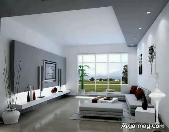 انواع دیزاین های پذیرایی با ترکیب طوسی و رنگ های دیگر