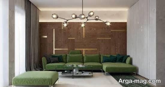 زیباترین و مجلل ترین دکوراسیون اتاق پذیرایی طوسی رنگ