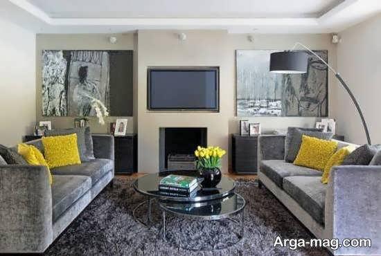 جالب ترین و مجلل ترین ایده های طراحی اتاق پذیرایی با رنگ طوسی