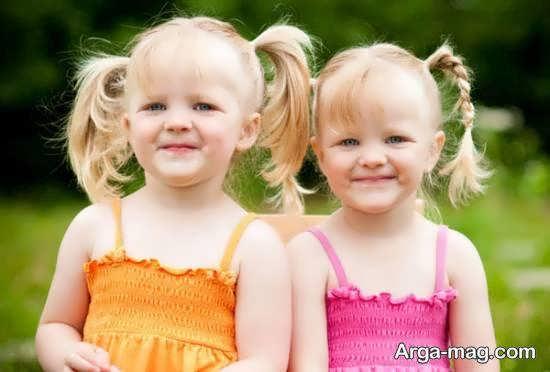 تصاویر جالب و جذاب از بچه های دو قلو دختر