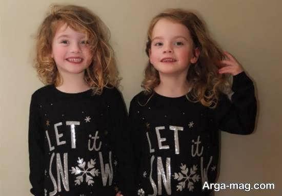 انواع نمونه های زیبا و بی نظیر عکس بچه های دو قلو