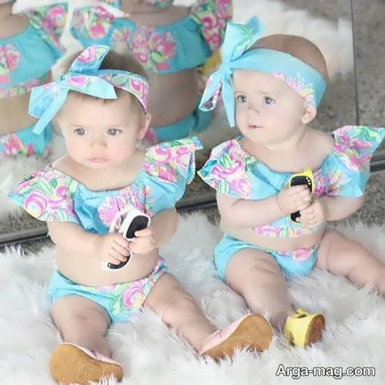 انواع عکس بچه های دو قلو فرشته های دوست داشتنی