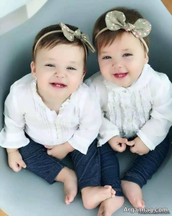 خاص ترین و زیباترین تصویر بچه های دوقلو