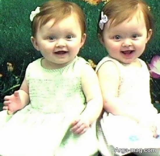 انواع ایده های عکس بچه های دوقلو زیبای دختر یا پسر