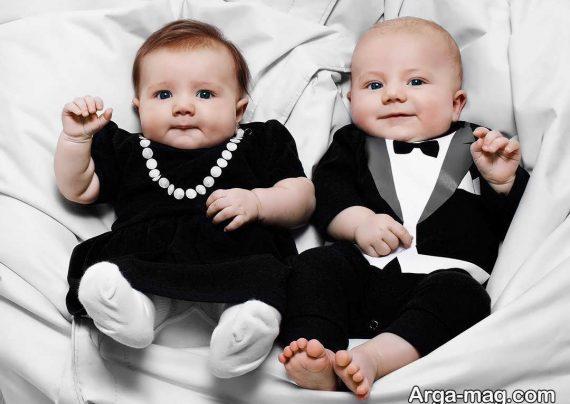 انواع عکس بچه های دو قلو با نمک و زیبا