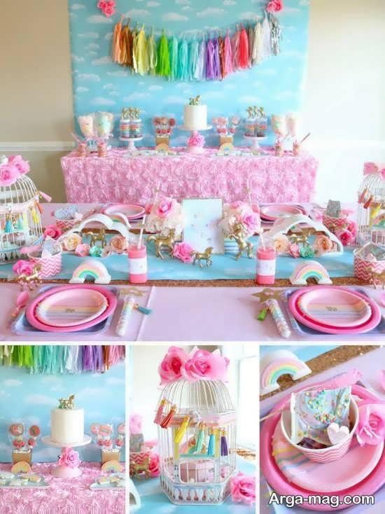تزیینات جشن تولد با تم یونیکورن