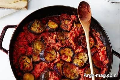 خورش گوجه و بادمجان