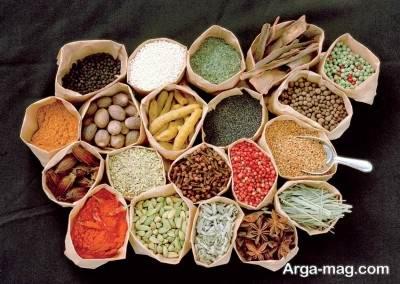 فهرست غذاهای طبع گرم