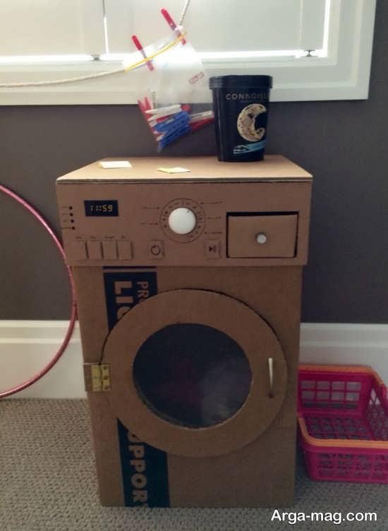 ساخت ساده کاردستی ماشین لباسشویی