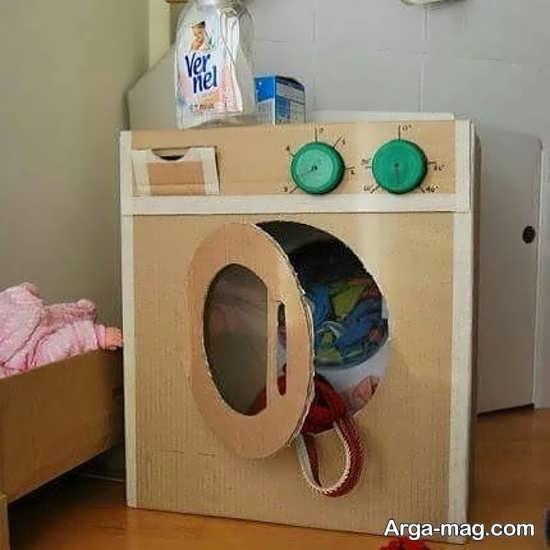 نمونه ای از کاردستی ماشین لباسشویی