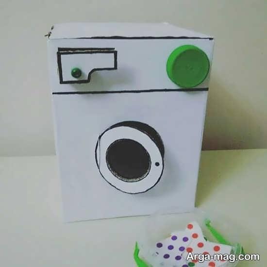 ساخت کاردستی ماشین لباسشویی