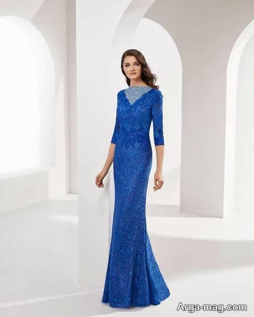 لباس مجلسی آبی تیره