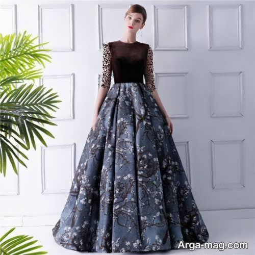 مدل لباس مجلسی طرح دار