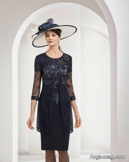 لباس مجلسی زنانه رنگ تیره