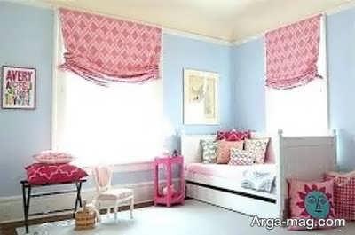 اتاق خواب آرامش بخش با دکوراسیون رنگی