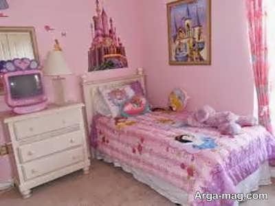 طراحی اتاق خواب دخترانه مدرن و دوست داشتنی