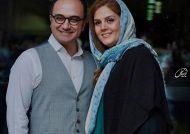 احسان کرمی و همسرش