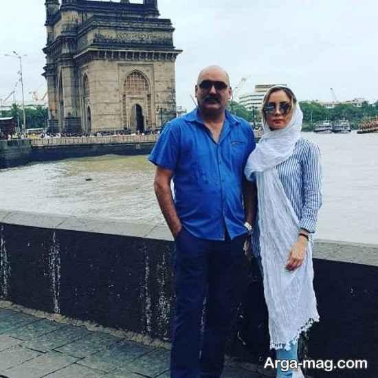 زوج بازیگر کشورمان در حال گشت و گزار در هند