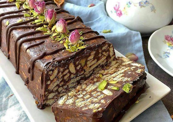 طرز تهیه کیک موزاییکی