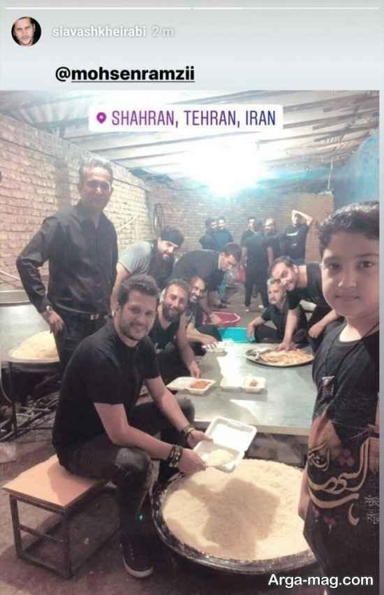 حضور بازیگران در مراسم عاشورای حسینی