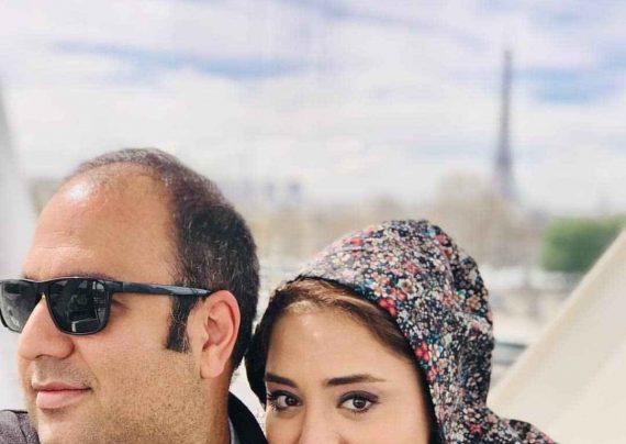 نرگس محمدی با قیافه شاد و خندان