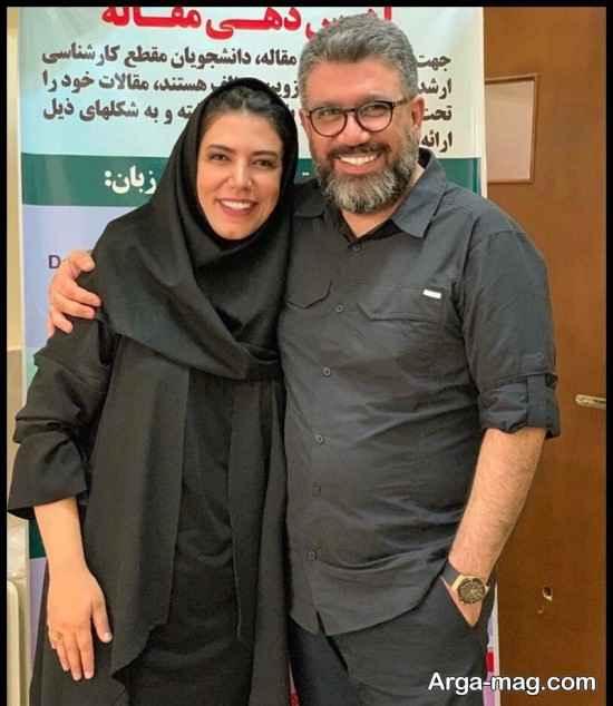 رضا رشیدپور مجری معروف و خواهر مطرحش