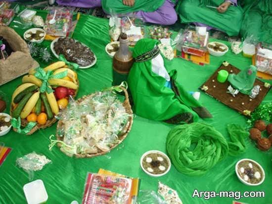 تزئین برای سفره حضرت رقیه