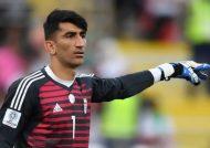 علیرضا بیرانوند دروازه بان تیم ملی کشورمان ایران