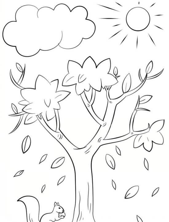 نقاشی درخت برای بچه ها