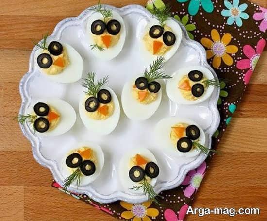 ایده خلاقانه تزیین تخممرغ به شکل جغد