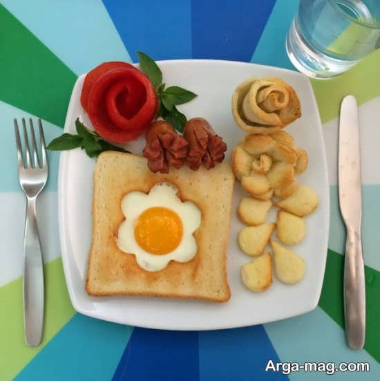 تزیین صبحانه زیبا و خوردنی