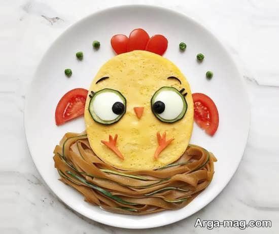 تزیین جالب صبحانه کودک